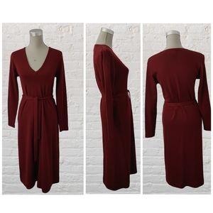 Vintage PORTS knit belted wool dress size M